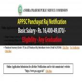 APPSC Panchayat Secretary Notification 2017