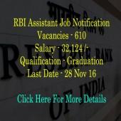 RBI Assistant job notification 2016-17
