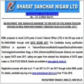 BSNL JTO Recruitment Notification 2017